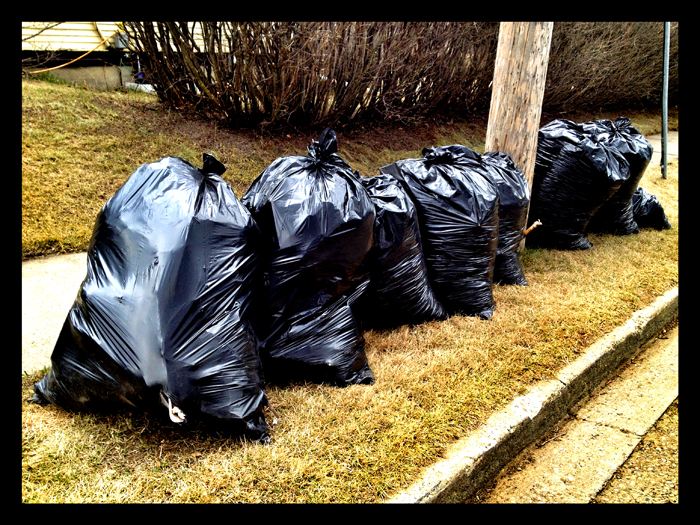 neighbourhood bags of garbage not mine